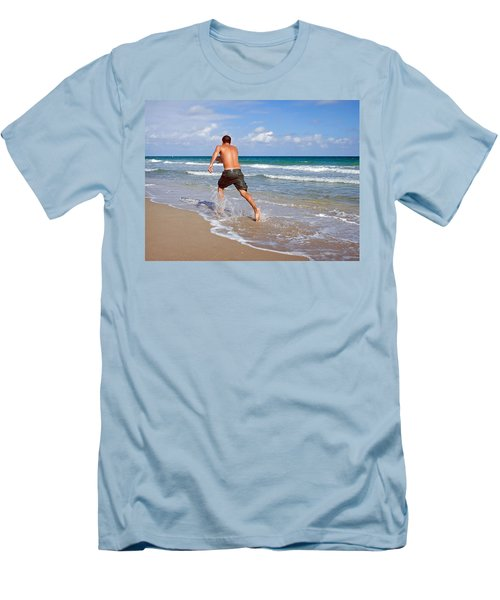 Shore Play Men's T-Shirt (Slim Fit) by Keith Armstrong