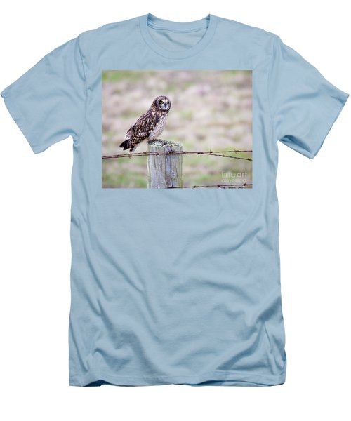 Short Eared Owl Boundary Bay Men's T-Shirt (Slim Fit) by Chris Dutton