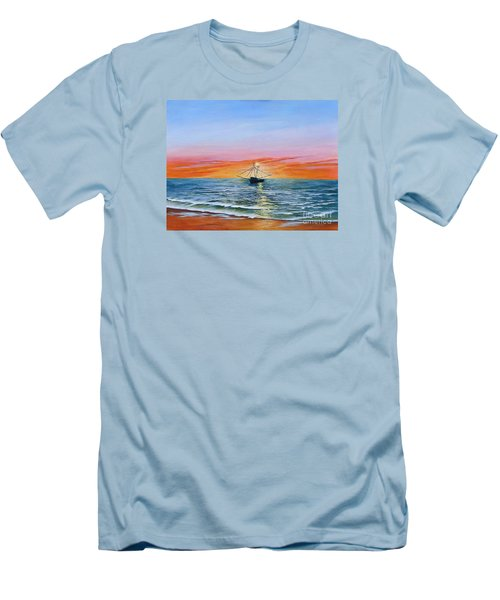Shrimp Boat Men's T-Shirt (Athletic Fit)