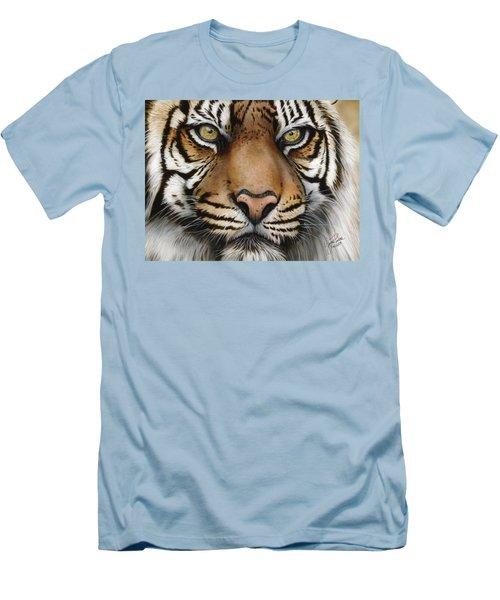 Siberian Tiger Closeup Men's T-Shirt (Athletic Fit)