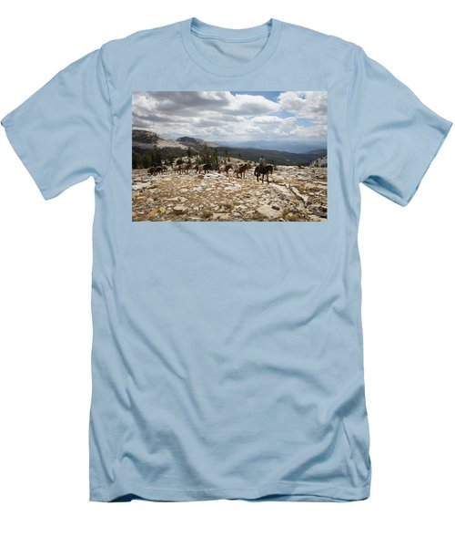 Sierra Trail Men's T-Shirt (Slim Fit) by Diane Bohna