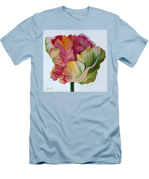 Simple Tulip Men's T-Shirt (Slim Fit) by Debbie Hart