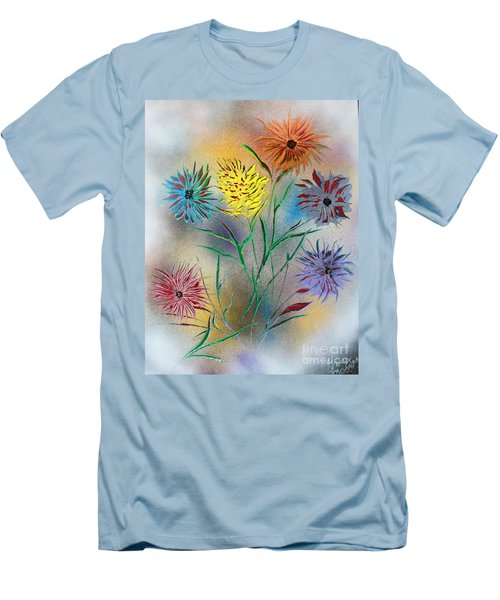 Six Flowers Men's T-Shirt (Slim Fit) by Greg Moores