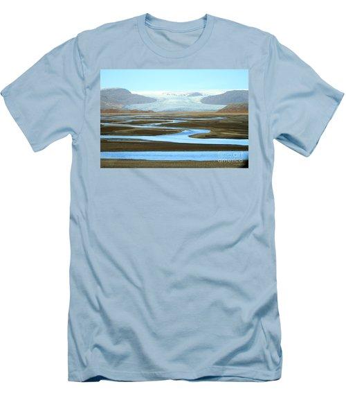 Men's T-Shirt (Slim Fit) featuring the photograph Skaftafell Glacier by Paula Guttilla