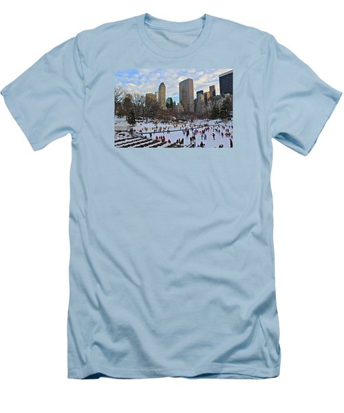 Skating In Central Park Men's T-Shirt (Athletic Fit)