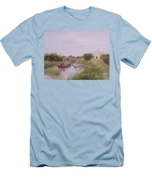 Slapton Lock Men's T-Shirt (Slim Fit) by Martin Howard