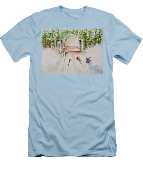 Sledding At Devou Park Men's T-Shirt (Athletic Fit)
