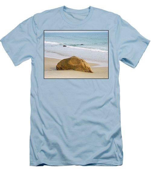 Sleeping Giant  Men's T-Shirt (Slim Fit) by Kathy Barney