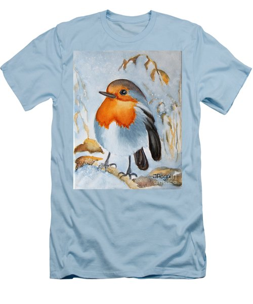 Small Bird Men's T-Shirt (Slim Fit) by Inese Poga