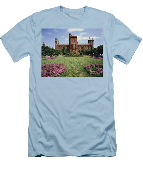 Smithsonian Institution Building Men's T-Shirt (Athletic Fit)