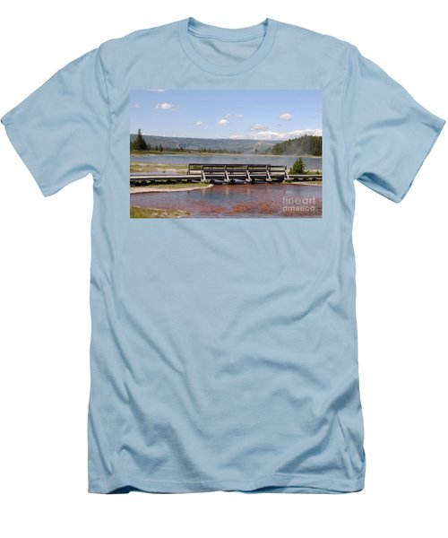 Smoke On The Water Men's T-Shirt (Slim Fit) by Mary Carol Story