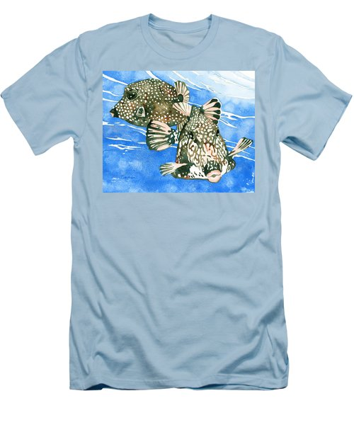 Smooth Trunkfish Pair Men's T-Shirt (Athletic Fit)
