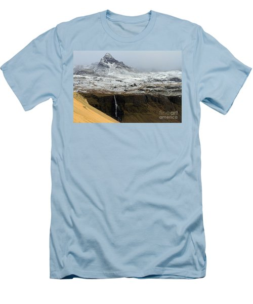 Men's T-Shirt (Slim Fit) featuring the photograph Snaefellsnes Peninsula #1 by Paula Guttilla