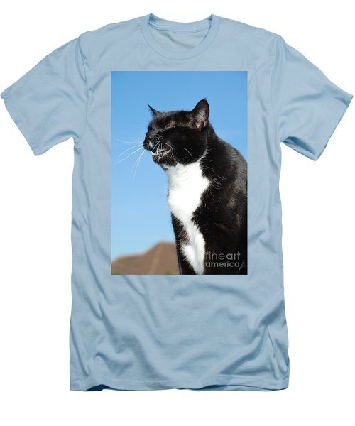 Sneezing Cat Men's T-Shirt (Athletic Fit)