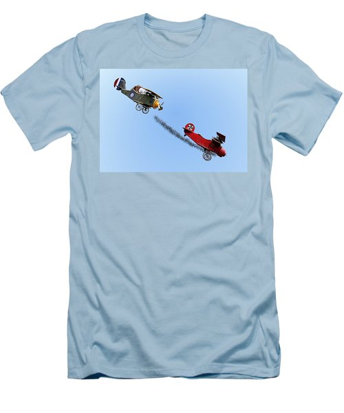 Snoopy And The Red Baron Men's T-Shirt (Athletic Fit)