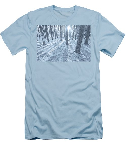 Men's T-Shirt (Slim Fit) featuring the photograph Snow Amongst The Pines by John Hansen