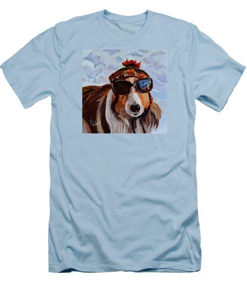 Snow Dog Men's T-Shirt (Athletic Fit)