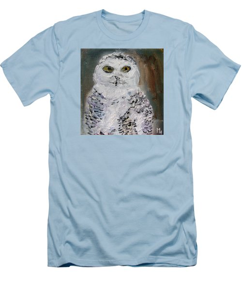 Snow Owl Men's T-Shirt (Slim Fit) by Michael Helfen