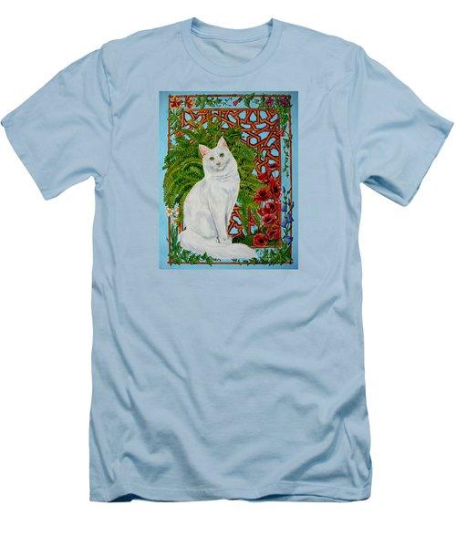 Men's T-Shirt (Slim Fit) featuring the painting Snowi's Garden by Leena Pekkalainen