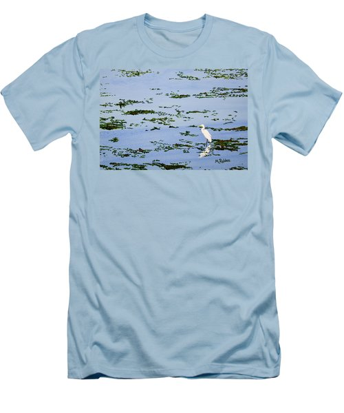 Snowy Egret Men's T-Shirt (Slim Fit) by Mike Robles