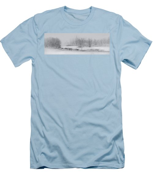 Snowy Fields Men's T-Shirt (Athletic Fit)