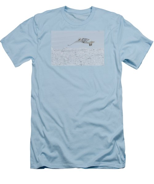 Men's T-Shirt (Slim Fit) featuring the photograph Snowy Owl #1/3 by Patti Deters