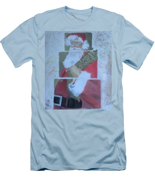 S'nta Claus Men's T-Shirt (Slim Fit) by Claudia Goodell