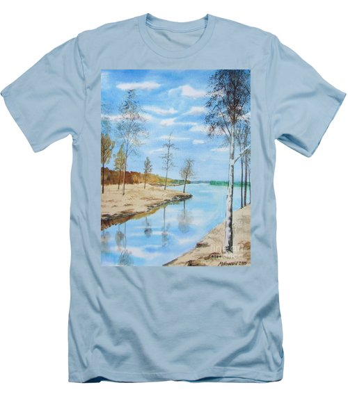 Somewhere In Dalarna Men's T-Shirt (Slim Fit) by Martin Howard