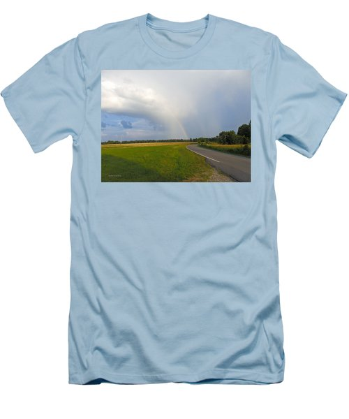Somewhere Under The Rainbow Men's T-Shirt (Slim Fit) by Nick Kirby