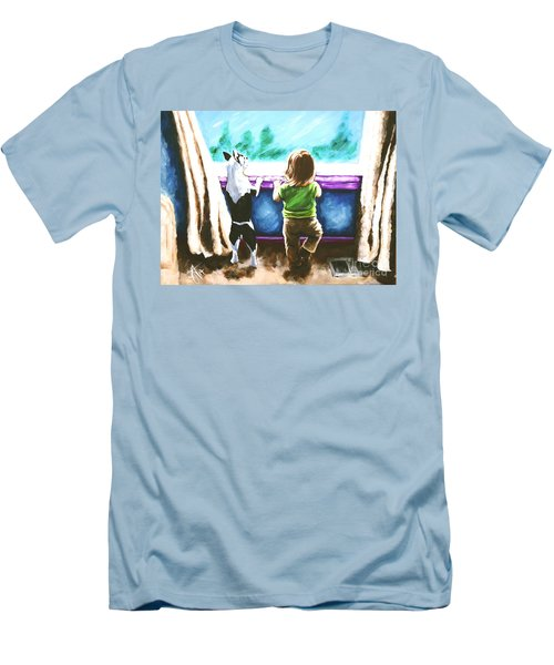 Waiting For Daddy Men's T-Shirt (Slim Fit) by Jackie Carpenter