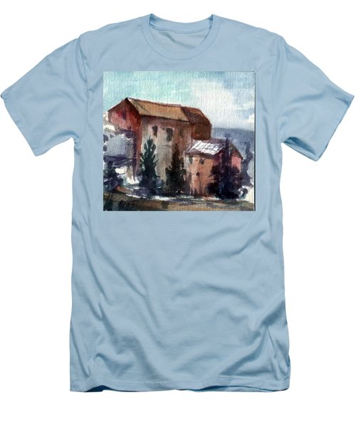 Men's T-Shirt (Slim Fit) featuring the painting South by Mikhail Savchenko