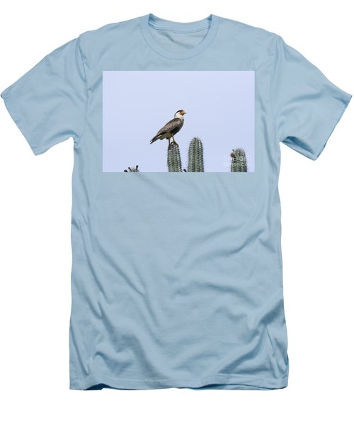 Men's T-Shirt (Slim Fit) featuring the photograph Southern Crested-caracara Polyborus Plancus by David Millenheft