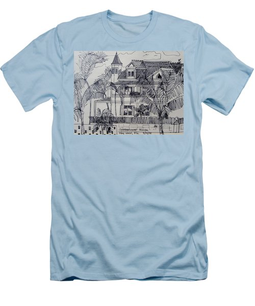 Southernmost House  Key West Florida Men's T-Shirt (Slim Fit) by Diane Pape