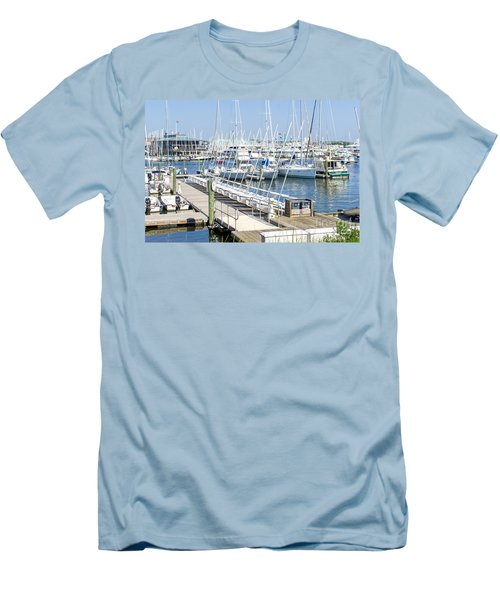 Men's T-Shirt (Slim Fit) featuring the photograph Spa At 6th Street by Charles Kraus