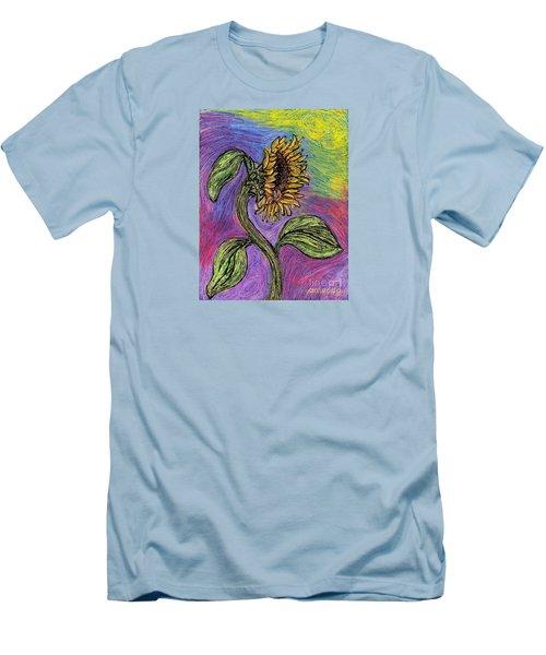 Spanish Sunflower Men's T-Shirt (Slim Fit) by Sarah Loft