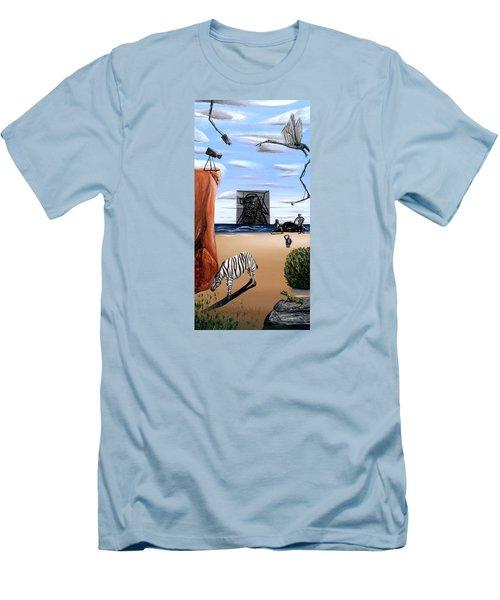 Species Differentiation -darwinian Broadcast- Men's T-Shirt (Slim Fit) by Ryan Demaree
