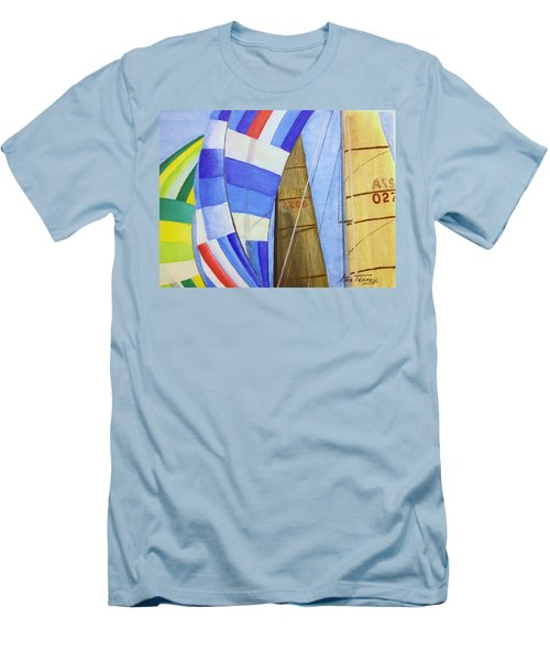 Spinnakers Men's T-Shirt (Slim Fit) by Stan Tenney