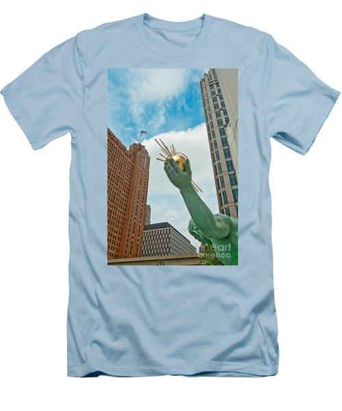 Spirit Of Detroit's Left Hand Men's T-Shirt (Athletic Fit)