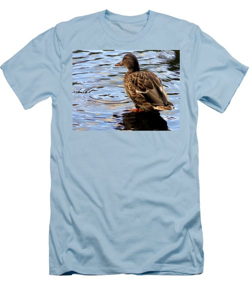 Men's T-Shirt (Slim Fit) featuring the photograph Splish Splash by Joseph Skompski