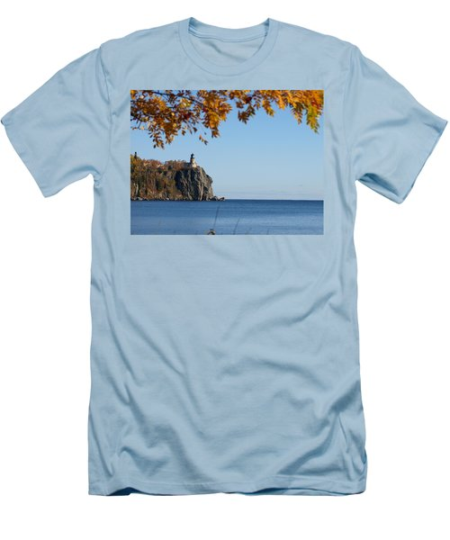Split Rock Leaves Men's T-Shirt (Athletic Fit)