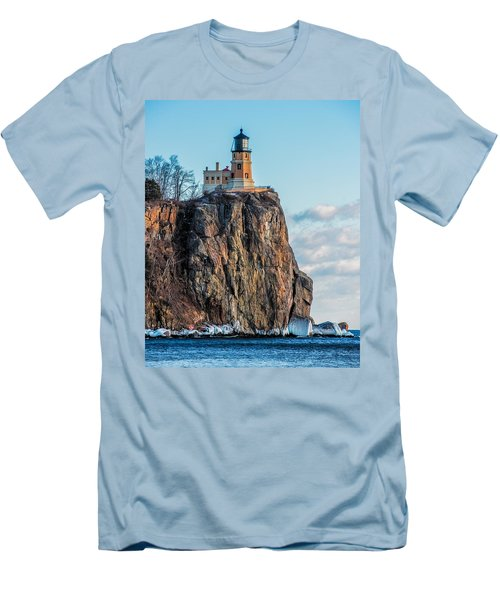 Split Rock Lighthouse In Winter Men's T-Shirt (Athletic Fit)