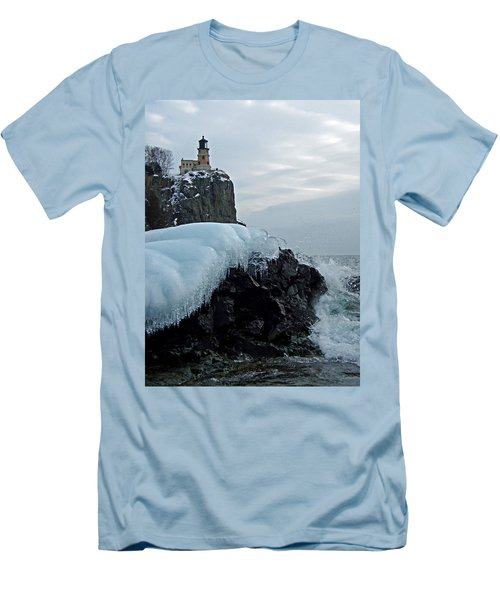 Split Rock Lighthouse Winter Men's T-Shirt (Athletic Fit)