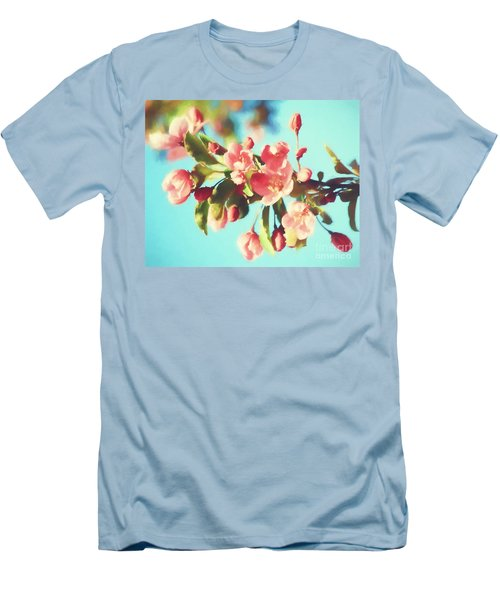 Spring Blossoms In Digital Watercolor Men's T-Shirt (Athletic Fit)
