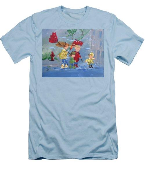 Spring In Our Step Men's T-Shirt (Slim Fit) by Terri Einer