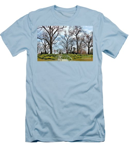 Spring Is Coming Men's T-Shirt (Slim Fit) by Janette Boyd