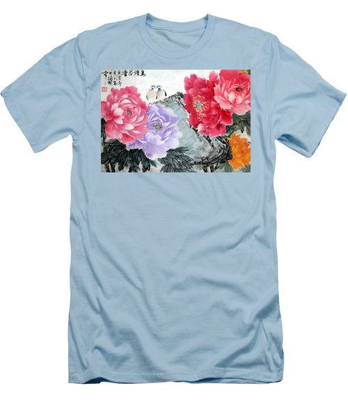 Men's T-Shirt (Slim Fit) featuring the photograph Spring Melody by Yufeng Wang