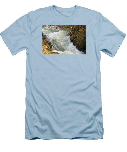 Spring Rush Men's T-Shirt (Slim Fit) by Julie Andel