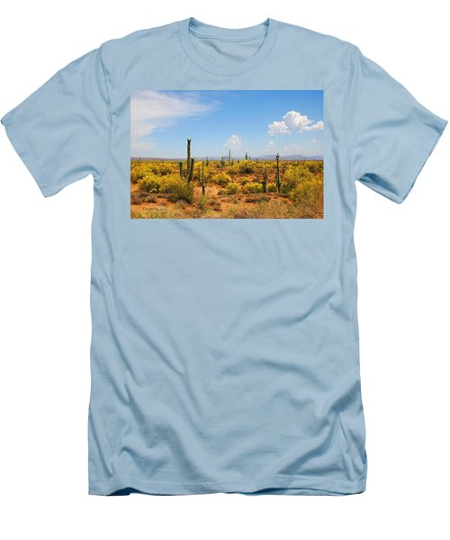 Men's T-Shirt (Slim Fit) featuring the digital art Spring Time On The Rolls. by Tom Janca