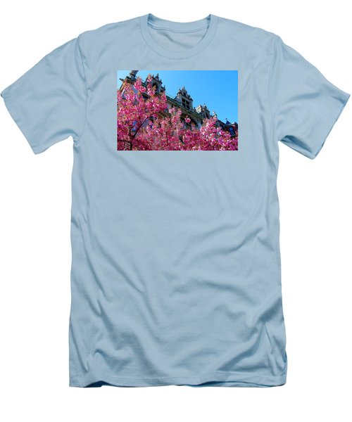 Springtime On Commonwealth Avenue Men's T-Shirt (Athletic Fit)