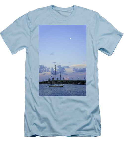 St. Augustine Sunset Men's T-Shirt (Slim Fit) by Laurie Perry